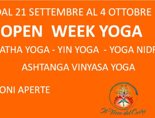 Open Week Yoga – Lezioni aperte per tutti